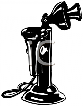 Royalty Free Clipart Image of a Vintage Telephone
