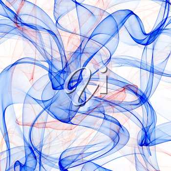 Rlue and red abstract smoke background