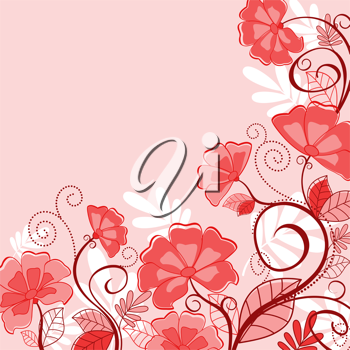 Abstract pink floral background flower petals for seasonal design
