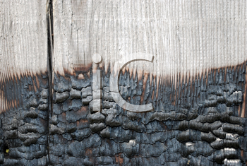 Royalty Free Photo of a Burned Timber Wall