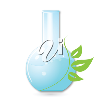 Royalty Free Clipart Image of a Glass Laboratory Flask