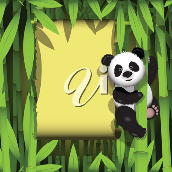 Royalty Free Clipart Image of a Panda
