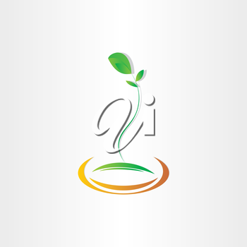 plant seed germination vector icon design