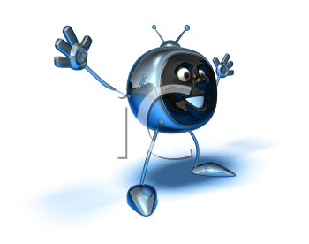 Royalty Free 3d Clipart Image of a TV
