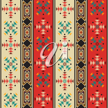 Seamless background pattern with navahostyle motif