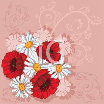 illustration of a poppies background