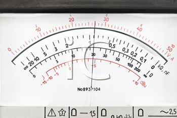 Royalty Free Photo of a Vintage Analog Scale