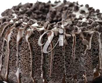 Royalty Free Photo of a Chocolate Fudge Cake