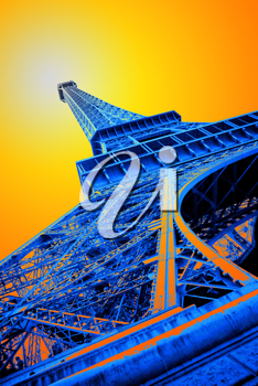 pop art picture of the eiffel tower
