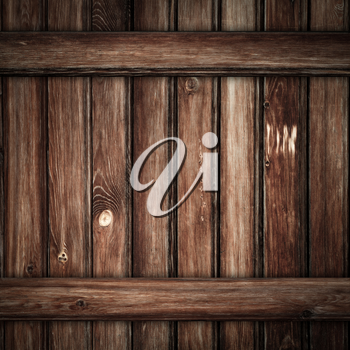 Grunge dark brown wood planks background