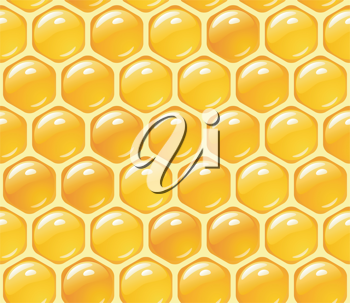 Royalty Free Clipart Image of Honey