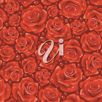 Royalty Free Clipart Image of a Red Rose Background