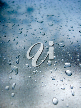 The image of drops of rain on the glass
