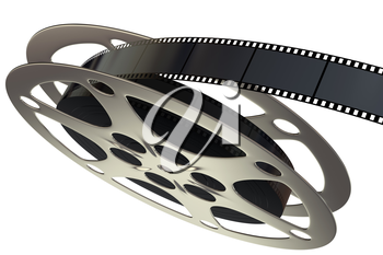 Film reel isolated